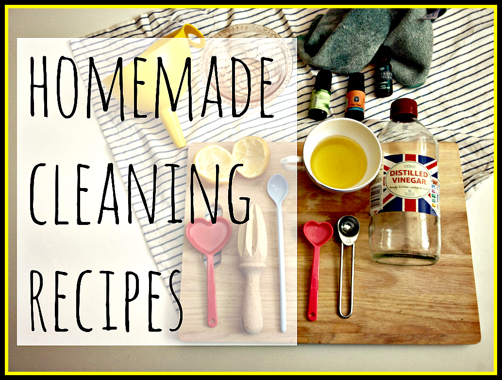 how to make cleaning products with essential oils
