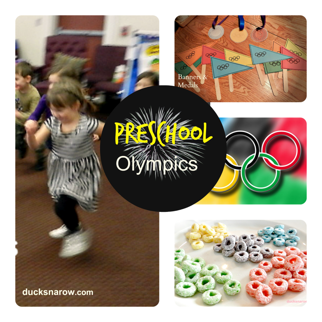 O is for Olympics preschool lesson and games www.ducksnarow.com