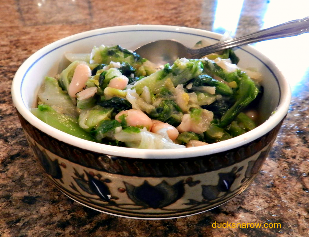 escarole and beans recipe #veggies #greens #healthyrecipes Ducks n a Row
