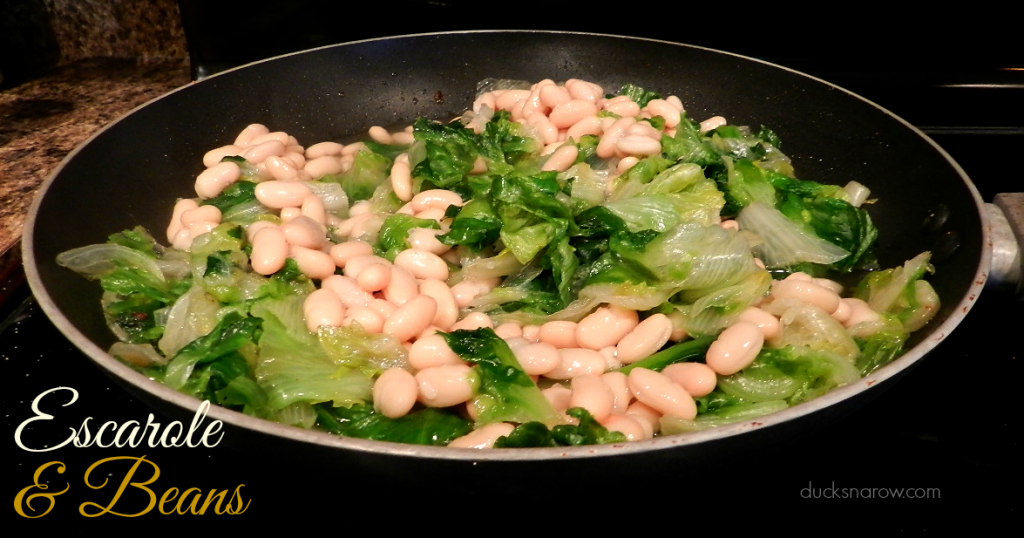 beans and greens, escarole #recipes #soup Ducks n a Row