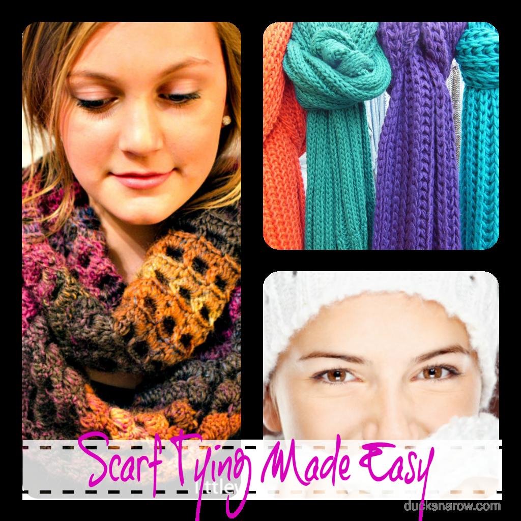 Scarf tying made easy; #scarves #fashion #beauty Ducks 'n a Row