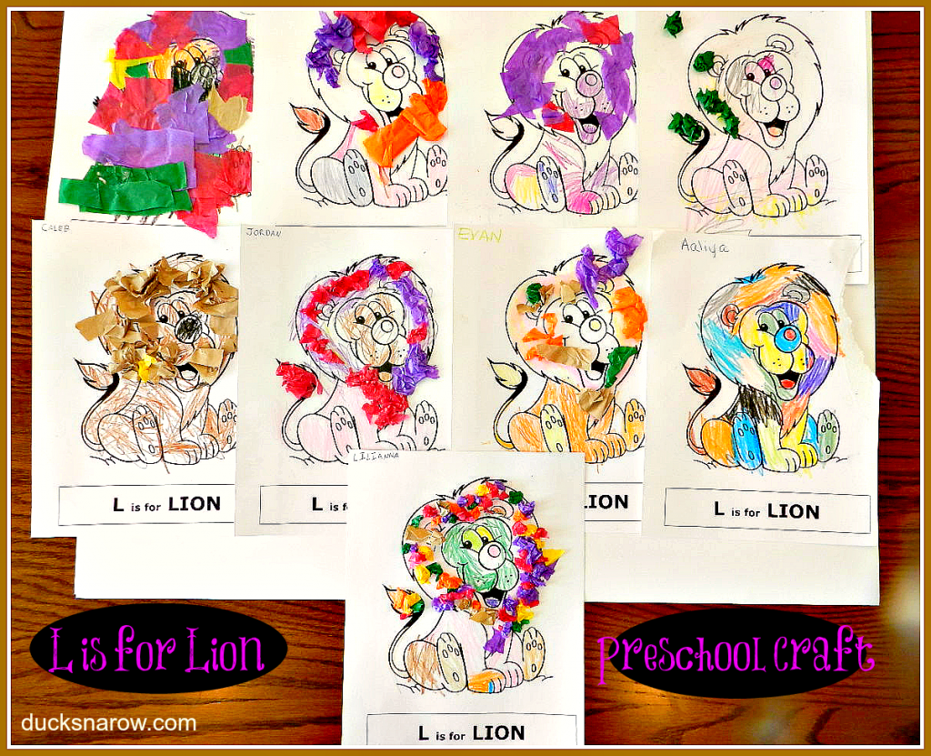 preschool and kindergarten crafts