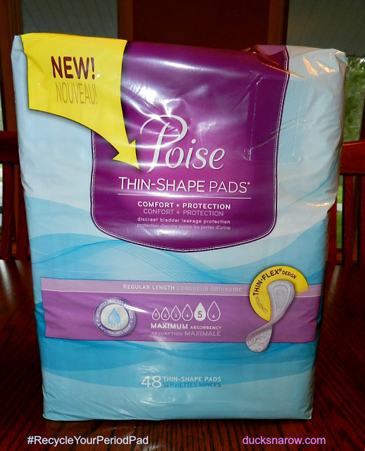 bladder leakage, recycle pads, free Poise pads