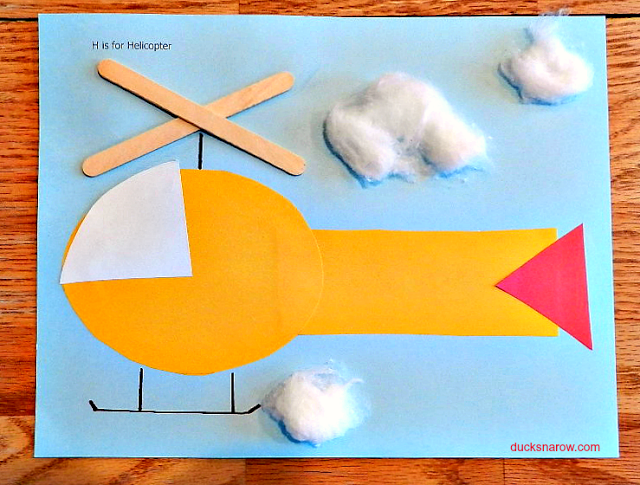 letter h crafts for preschoolers h is for helicopter preschool craft ducks n a row 11684