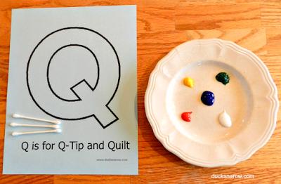 preschool craft, preschool painting, preschool activity, kids painting activity, Letter Q