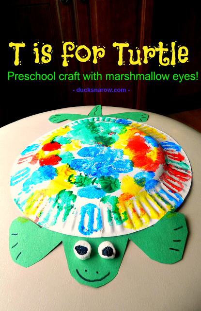 turtles, Letter T, kids crafts
