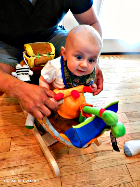baby on pirate ship toy rocker
