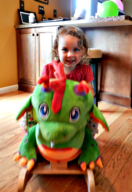 cute dragon toy rocker for kids