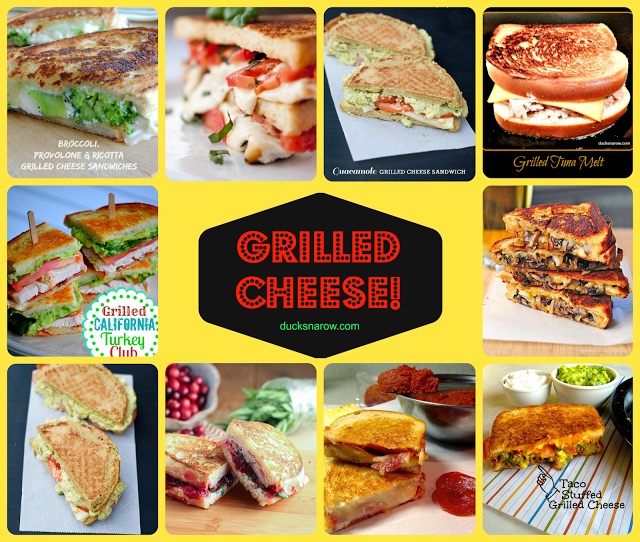 Grilled cheese sandwiches are a staple in many American households. This collection of recipes goes from simple to gourmet! Anything you could ever want. #grilledcheese