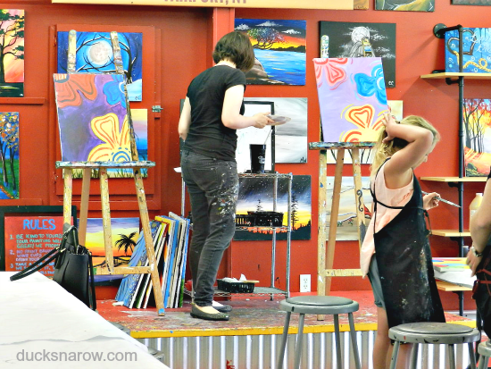 art, artwork, family fun, painting lessons, painting class