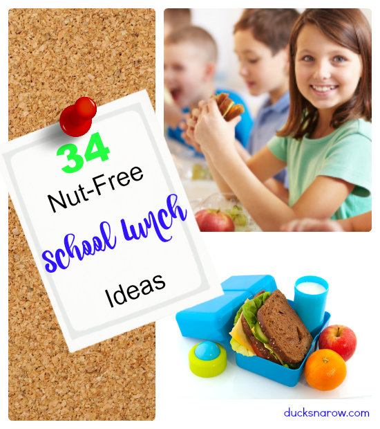 34 healthy lunch options that are perfect for your kids to bring with them to their nut-free school #healthyeating