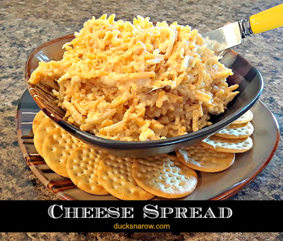 Cheese spread on crackers is a perfect snack #appetizer