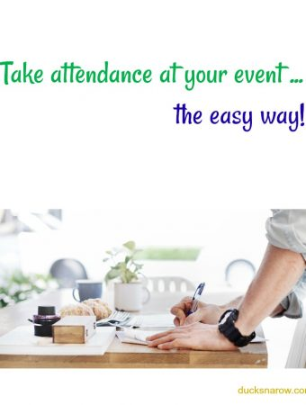 How to take attendance at an event using labels #tips