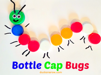 Cute little activity for preschoolers using bottle caps