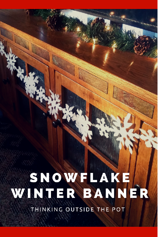 DIY snowflake banner decoration for winter