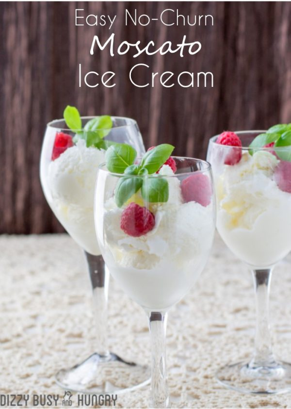 No churn Moscato wine ice cream