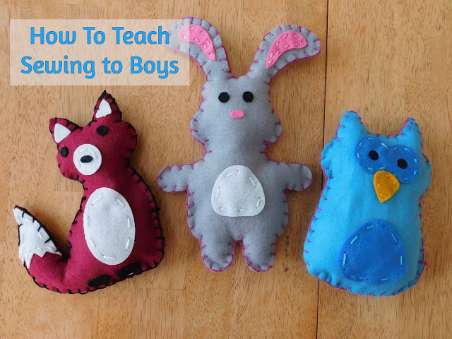 How To Teach Sewing to Boys #crafts