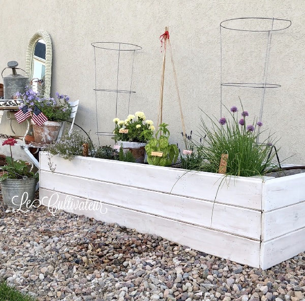 Raised shiplap garden bed by LeCultivateur