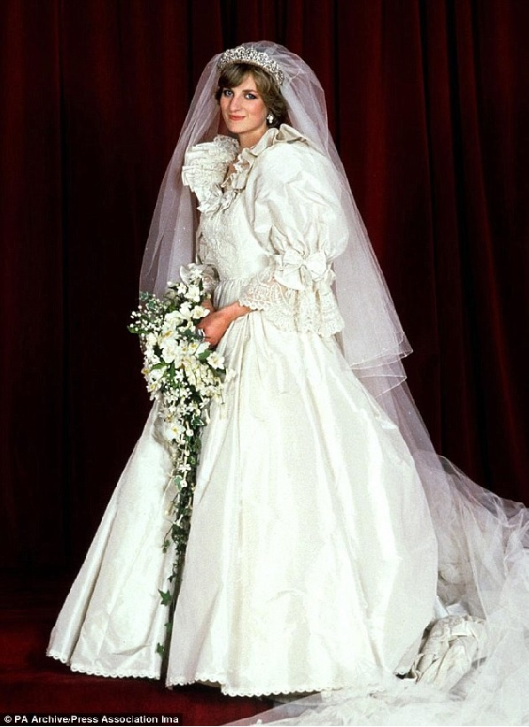 Princess Diana's wedding gown and other royal #weddings - collection from Debbie This And That