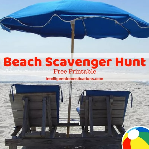Beach scavenger hunt by Intelligent Domestications