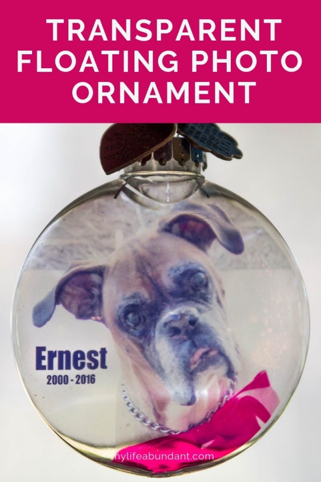 DIY transparent Christmas ornament