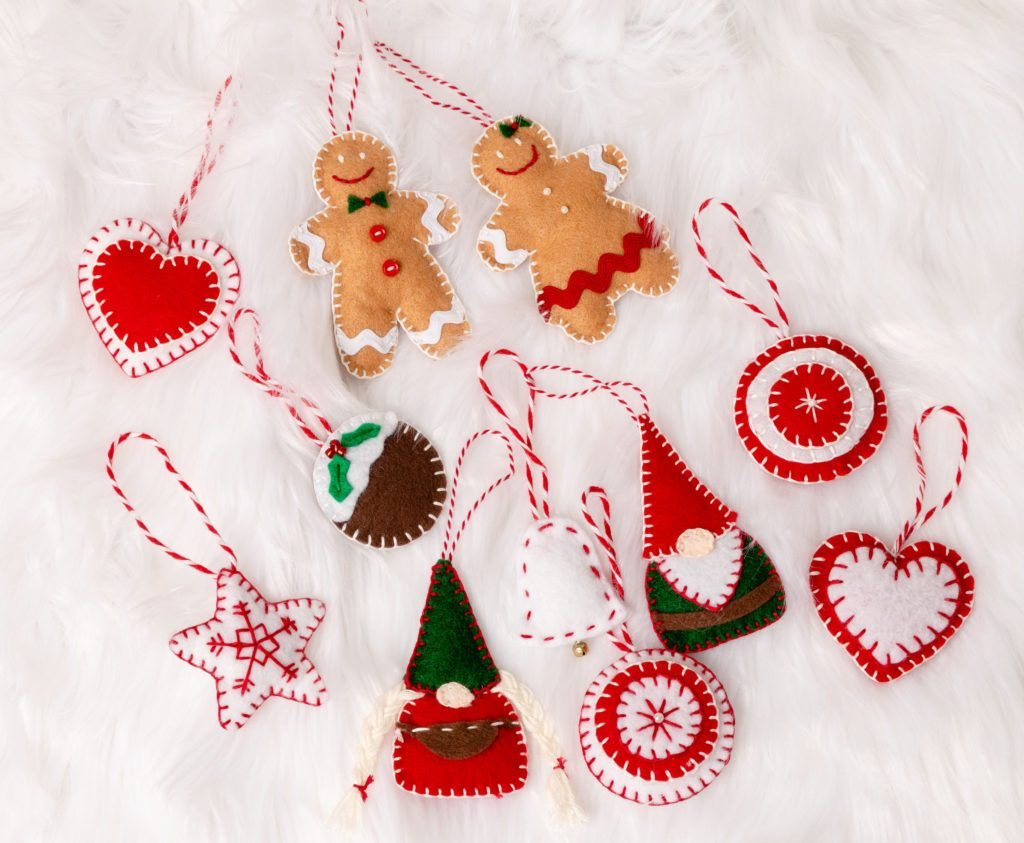 Felt ornaments #crafts