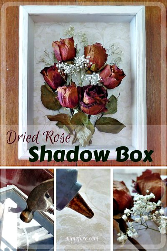 Dried Rose Shadow Box