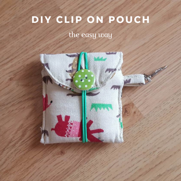 DIY clip on pouch