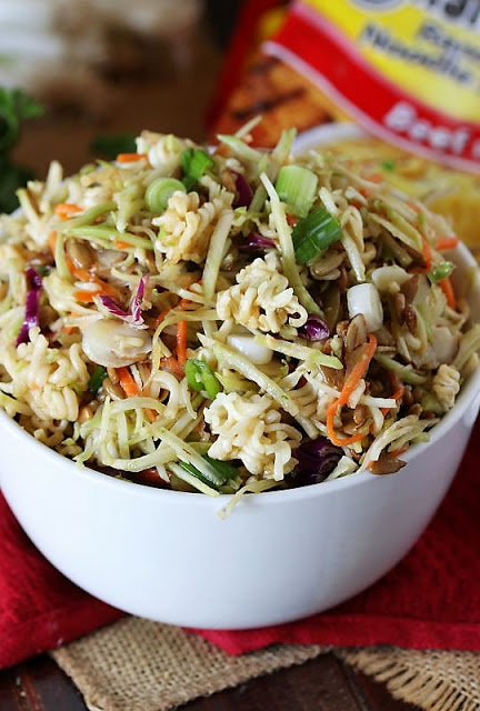 Asian Ramen Noodle Salad from My Kitchen Is My Playground blog #recipes