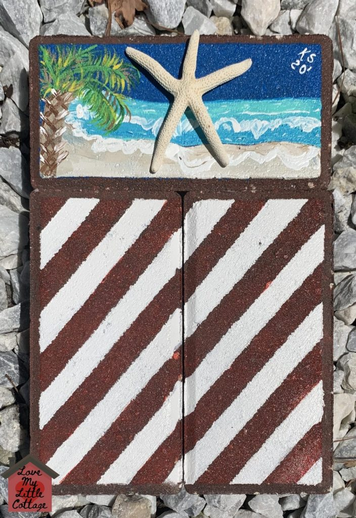 Beachy Americana Flag made from pavers #DIY
