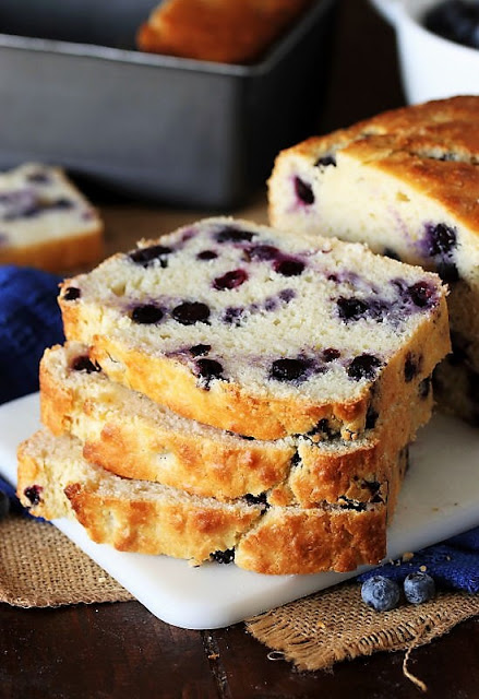 Buttermilk blueberry bread from The Kitchen is My Playground.