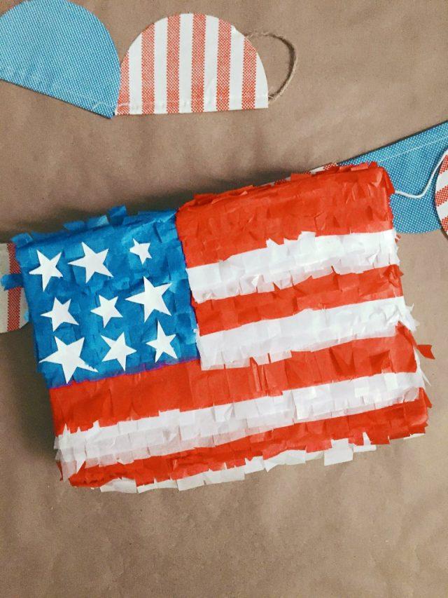 American flag DIY decorative piñata