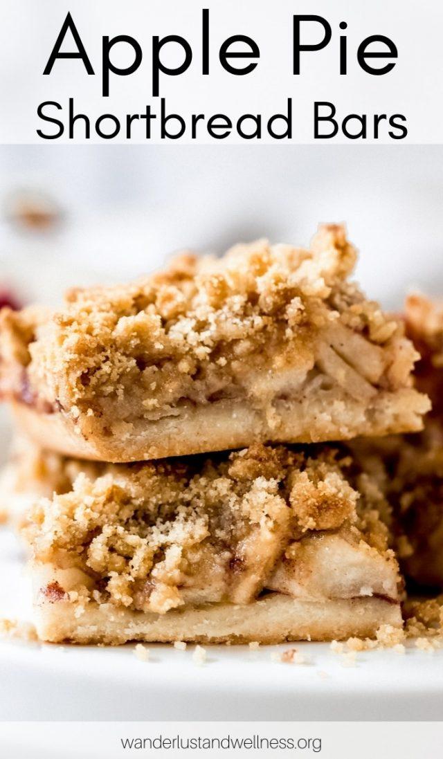 Apple pie shortbread bars