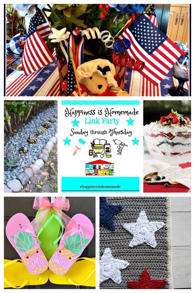 Features of July 4 Happiness Is Homemade party